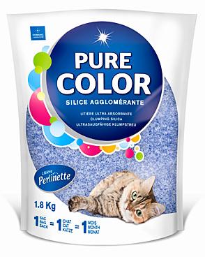 litière perlinette pure color bleue